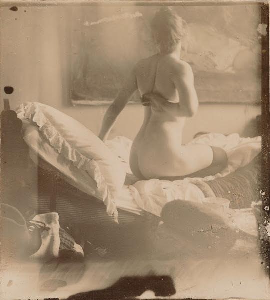 George Hendrik Breitner, Marie Jordan naakt op de rug gezien, 1890